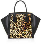 BCBGMAXAZRIA Joselyn Curved Bar Cheetah Print Satchel