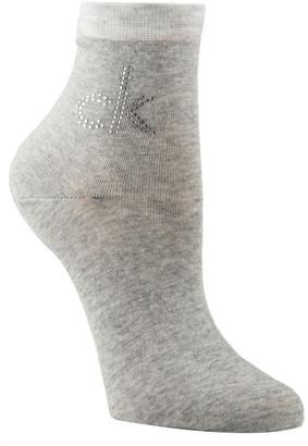 Calvin Klein Piper Crystal Logo Anklet Socks ECC628