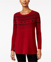 Style&Co. Style & Co. Petite Fair Isle Swing Top, Only at Macy's