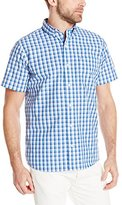 Izod Men's Short Sleeve Non-Iron Large Check Shirt