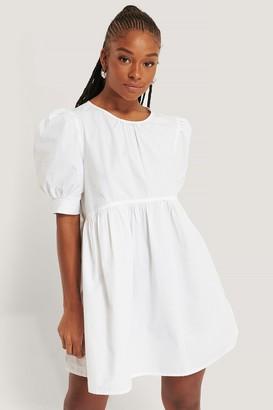 NA-KD Cotton Short Sleeve Mini Dress