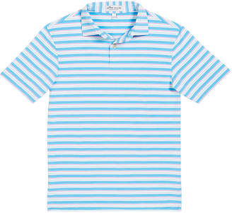 Peter Millar Boy's Multi-Stripe Polo Shirt, Size XXS-XL