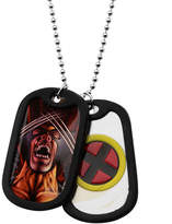 Wolverine FINE JEWELRY Marvel Mens Stainless Steel Double Dog Tag Pendant Necklace