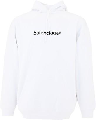 Balenciaga Copyright Logo Print Hoodie