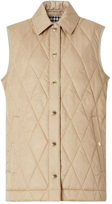 Burberry Beige Quilted Vest