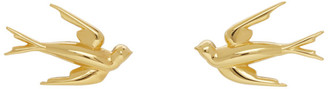 McQ Gold Swallow Stud Earrings