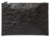 Deux Lux Crinkle Metallic Pouch Bag