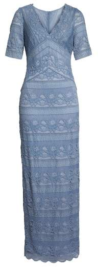 Adrianna Papell Lace Stripe Gown