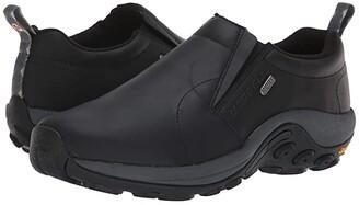 Merrell Jungle Moc Leather Waterproof Ice+ Oak) Men's Slip on Shoes
