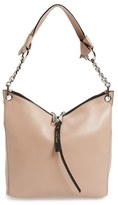 Jimmy Choo 'Small Raven' Nappa Leather Shoulder Bag - Pink