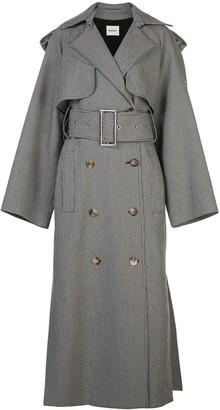 KHAITE Binx houndstooth trench coat