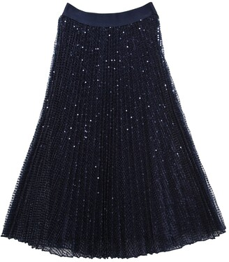 MonnaLisa LONG SEQUINED TULLE SKIRT W/ PLEATS