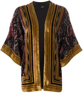 Etro Velvet Wide Sleeve Shrug