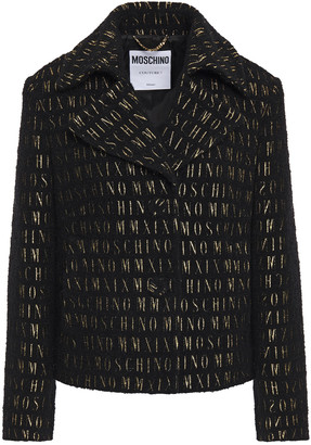 Moschino Metallic Boucle-knit Blazer
