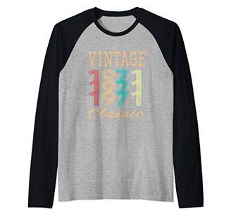 Retro Mens & Womens Vintage 49th Birthday Gift Raglan Baseball Tee