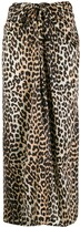 Thumbnail for your product : Ganni Leopard Print Tie Midi Skirt