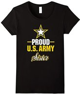 "Women's Army Sister T-Shirt ""Proud US Army Sister"" Small"