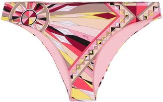 Emilio Pucci Bes geometric print bikini bottoms