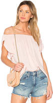 Velvet by Graham & Spencer Caris Off the Shoulder Top in Pink. - size L (also in S,XS)
