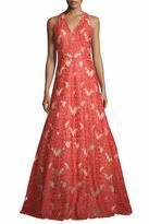 David Meister Sleeveless Lace Gown