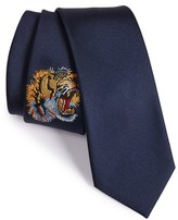 Gucci Men's Tiger Embroidered Silk Tie