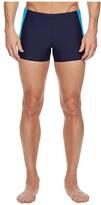Speedo Fitness Splice Square Leg (Navy/Blue) Men's Swimwear