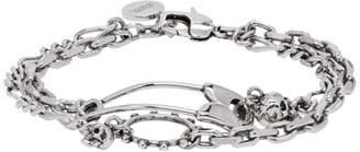 Alexander McQueen Silver Safety Pin Bracelet