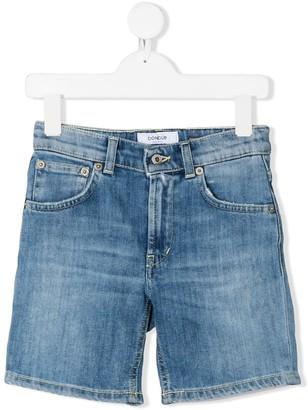 Dondup Kids Knee Length Stonewashed Denim Shorts