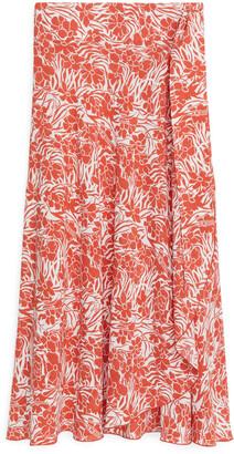 Arket Floral Wrap Skirt