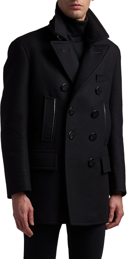 Tom Ford Men S Wool 5 Pocket Peacoat, Cotton Peacoat By Tom Ford