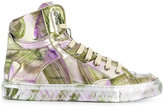 MM6 MAISON MARGIELA painted hi-top sneakers