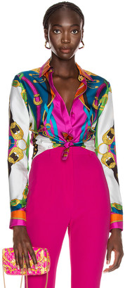 Versace Accessories Print Blouse in Red | FWRD