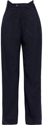 Maison Margiela Layered Wool-blend Twill Wide-leg Pants