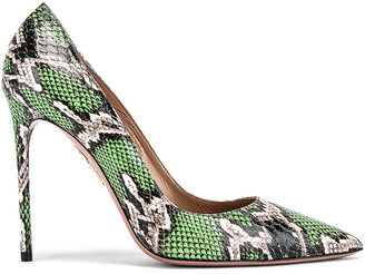 Aquazzura Purist Jungle Snake Pump in Jungle Green | FWRD
