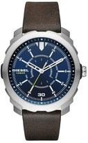 Diesel Machinus NSBB Leather Strap Watch, 46mm