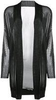 Barbara Bui shawl lapel sheer cardigan