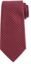 Armani Collezioni Woven Neat Silk Tie, Burgundy