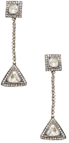 Artisan 18K Gold & 2.79 Total Ct. Rosecut Diamond Linear Drop Earrings