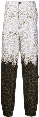 MSGM Ombre Leopard Cargo Trousers