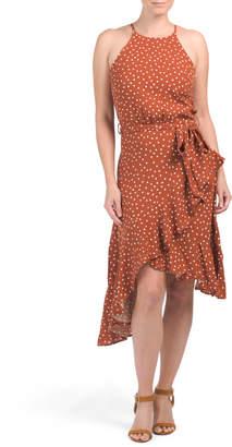 Australian Designed Halter Neck Asymmetrical Ruffle Midi Dress