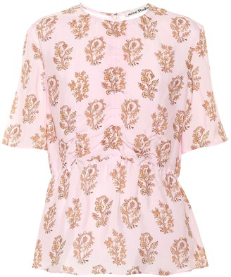 Acne Studios Floral-printed top