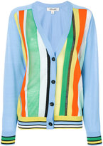 Diane von Furstenberg V-neck striped cardigan - women - Cotton/Nylon - 2