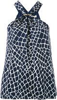 Michael Kors halterneck blouse - women - Silk/Polyester - M