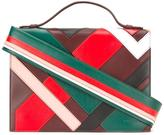 Emilio Pucci striped shoulder strap bag - women - Leather - One Size