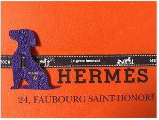 Hermes Petit H Purple Leather Bag charms
