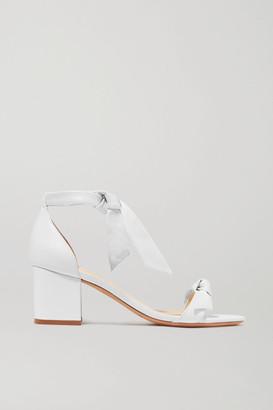 Alexandre Birman Clarita Bow-embellished Leather Sandals - White