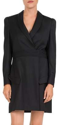 The Kooples Shawl Collar Wool Wrap Dress