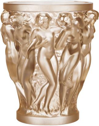 Lalique Bacchantes Gold Luster Vase