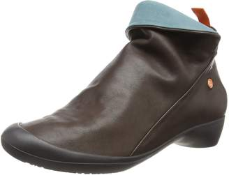 Farah Softinos Women's Ankle Boots Dk Brown/Patrol 553 8 UK 41 EU