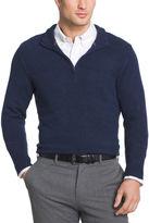 Van Heusen Textured Quarter Zip Sweater Long Sleeve Pullover Sweater